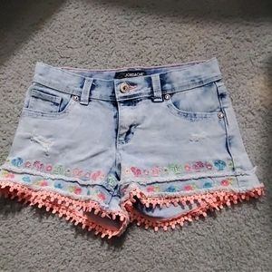 Girl size 8 distressed shorts
